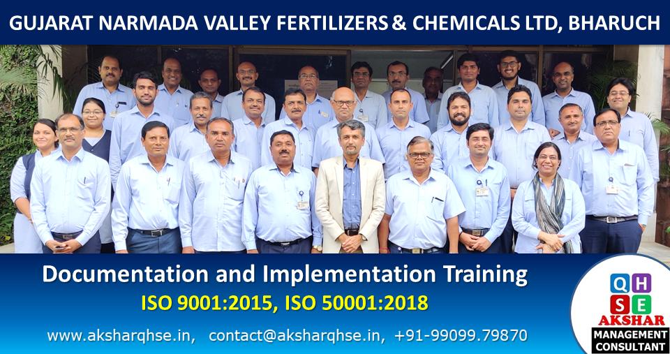 Documentation & Implementation training on ISO 9001:2015 & ISO 50001:2018 @ GNFC Ltd, Bharuch