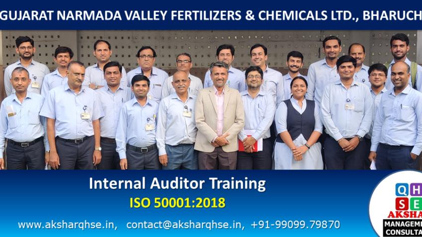 Internal Auditor Training on ISO 50001:2018 @ GNFC Ltd, Bharuch