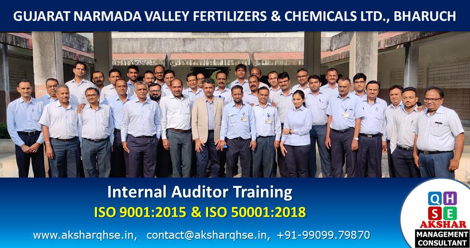 Internal Auditor Training on ISO 9001:2015 & ISO 50001:2018 @ GNFC Ltd, Bharuch