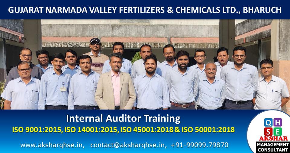 Internal Auditor Training on ISO 9001:2015, ISO 14001:2015, ISO 45001:2018 & ISO 50001:2018 @ GNFC Ltd, Bharuch 2