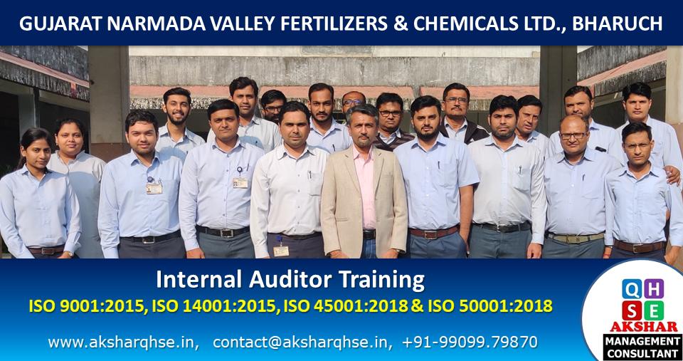 Internal Auditor Training on ISO 9001:2015, ISO 14001:2015, ISO 45001:2018 & ISO 50001:2018 @ GNFC Ltd, Bharuch 1
